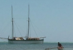 Les goélettes envahissent toujours l'océan à Belo-sur-Mer
