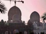 Le chantier de la Grande Mosquée Sheikh Zayed à Abu Dhabi